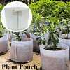 25*25CM Non-woven Plant Pouch Tree Flower Seed Environment Protection Handles Ventilate Breathable Grow Bag Garden Tool