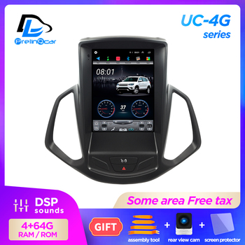 4G Lte 32G ROM Vertical screen android 9.1 system multimedia video radio player for ford ecosport 2014-2018 navigation stereo image