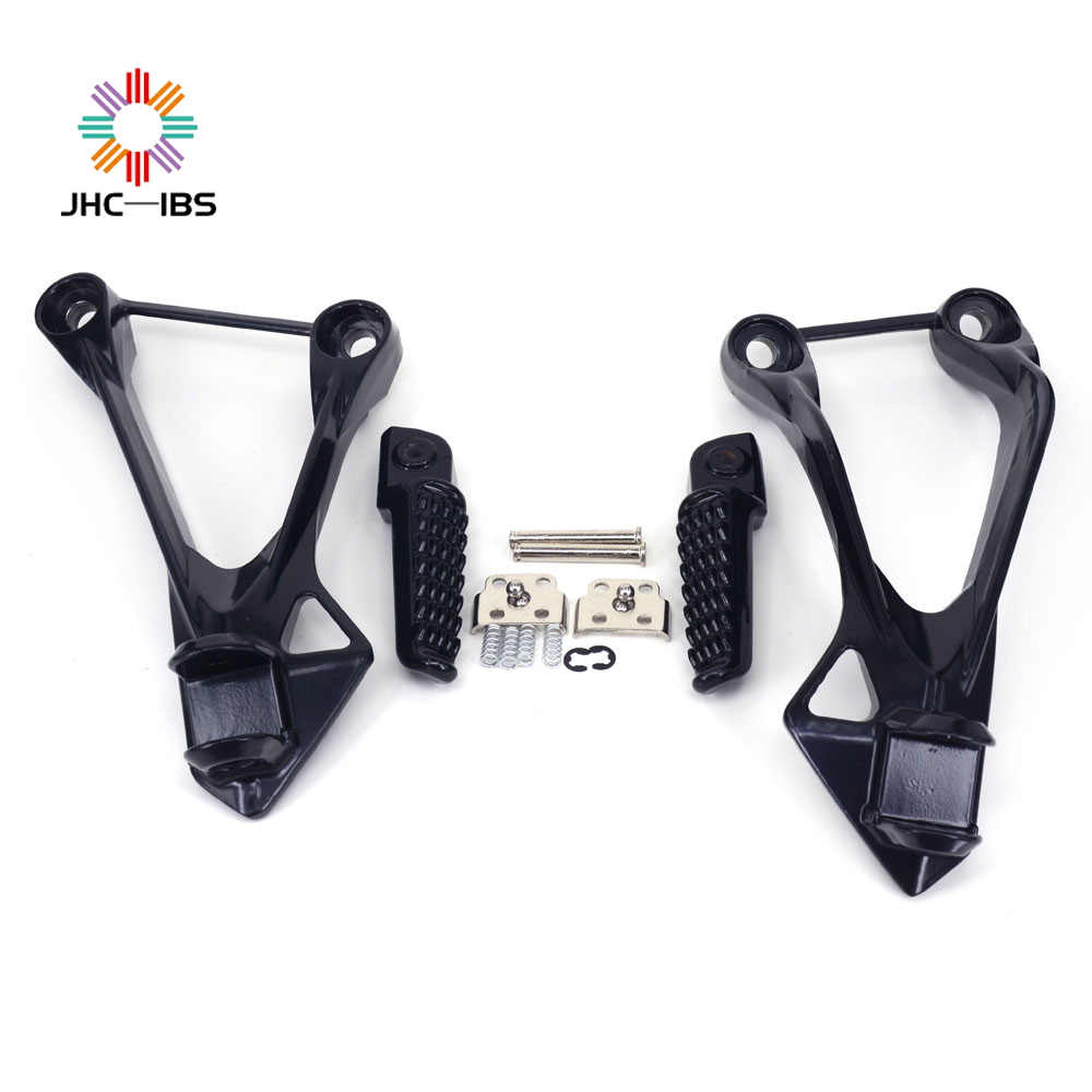 Motorcycle Footpegs Foot Pegs Footrest Pedals Bracket For Kawasaki Ninja ZX6R ZX 6R 2005-2008 ZX636 ZX 636 ZX-636 2005-2006