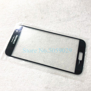 Image 2 - Yedek harici cam Samsung Galaxy S7 G930 S7 kenar G935 LCD ekran dokunmatik ekran ön dış cam Lens