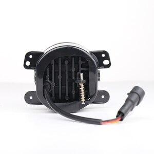 "Image 5 - 2X4 ""Zoll Runde LED Nebel Stoßstange Lichter Off Road Nebel Lampen für Jeep Wrangler JK Dodge Journey Magnum Ladegerät"