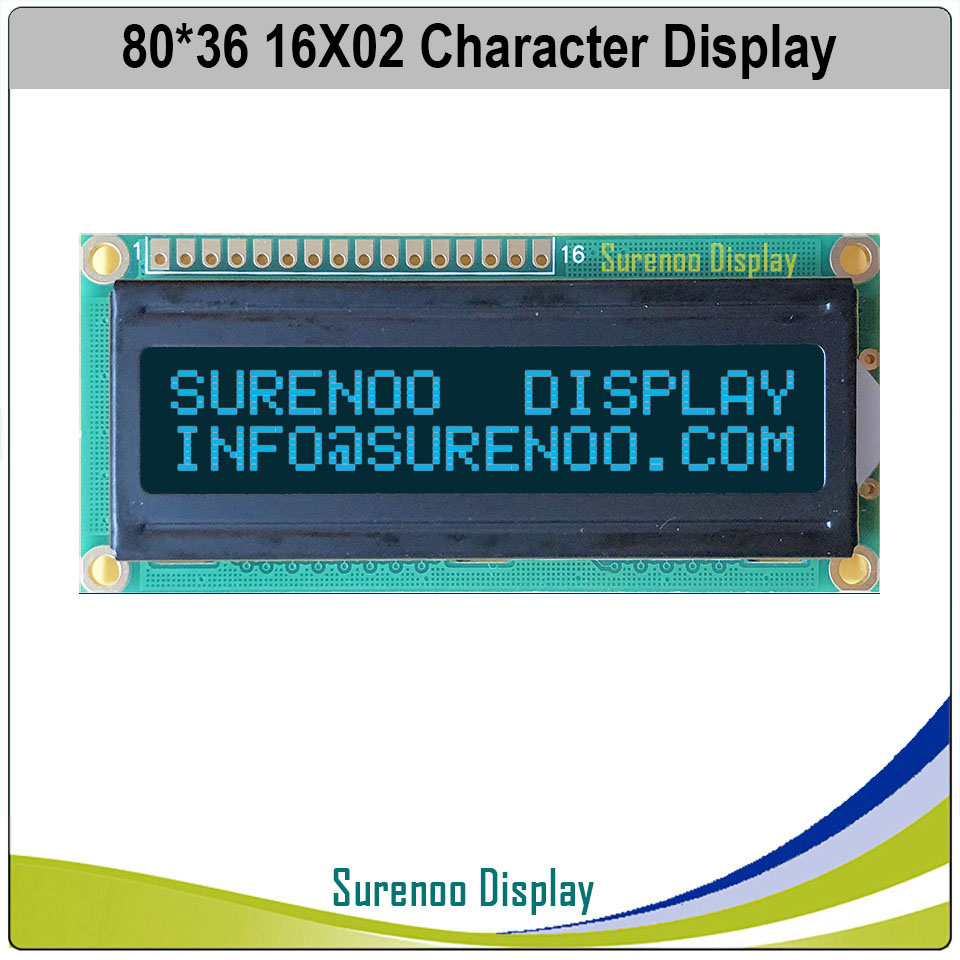 LCD 1602 16x2 16 Characters HD44780 display for Arduino Orange//blue//Red//Yellow
