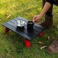 NEUE Mini Schwarz Outdoor Aluminium legierung Klapptisch Möbel Grill Camping Zelt Haushalt Bett Faltbare Computer Schreibtisch