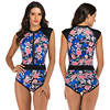 Zippered Front Sports One Piece Swimsuit 21
