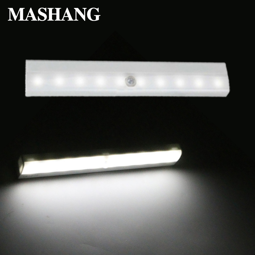 LED Night Light Induction Wall Lamp Wireless Emergency Light Motion Sensor Portable 10 LEDs Kitchen Bedroom Induction Lamp