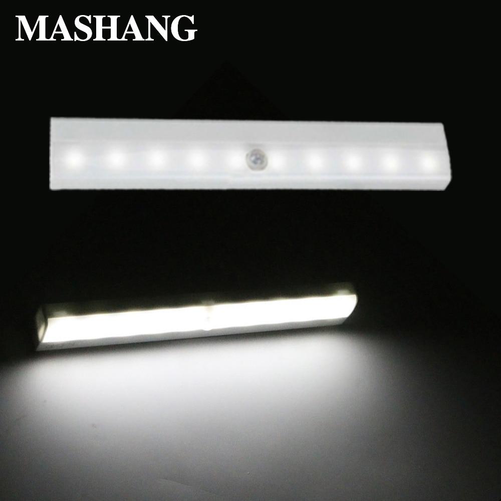LED Night Light Induction Wall Lamp Wireless Emergency Light Motion Sensor Portable 10 LEDs Kitchen Bedroom Induction Lamp