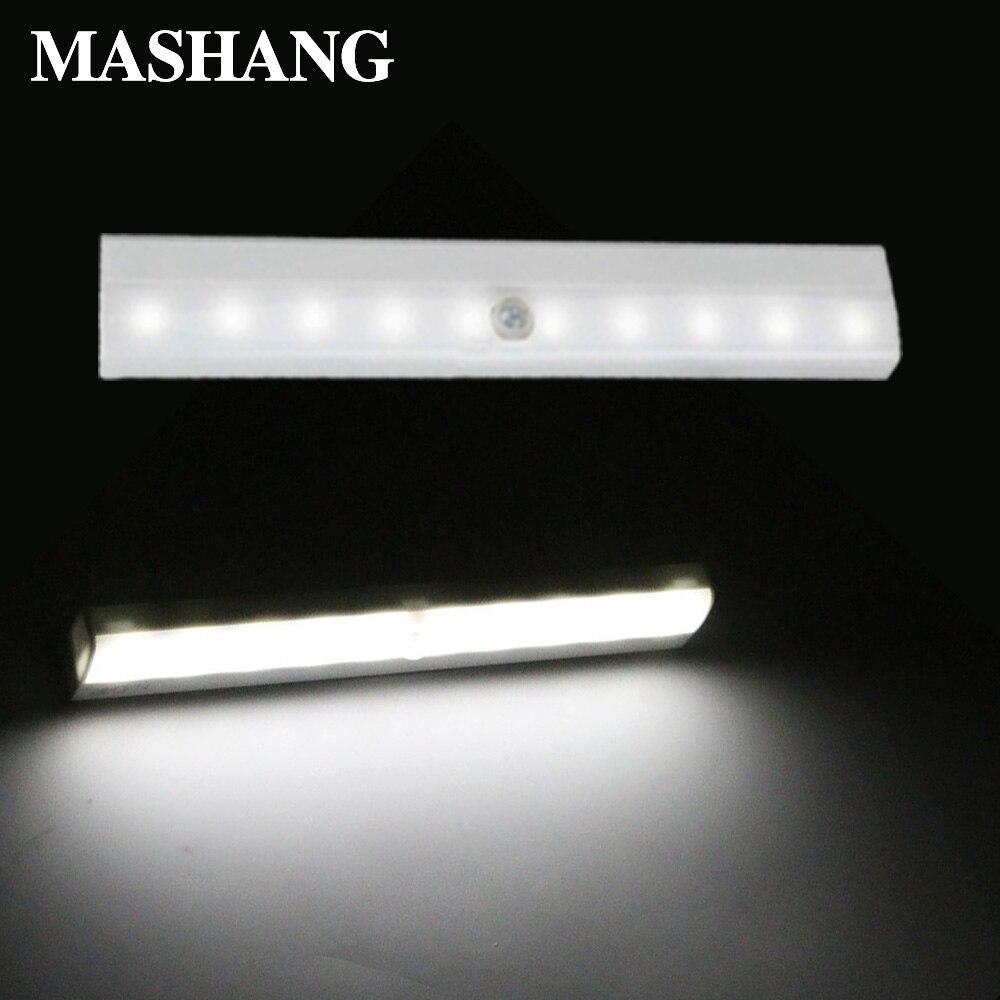 LED veilleuse induction applique sans fil lumière de secours capteur de mouvement portable 10 LED s cuisine chambre induction lampe
