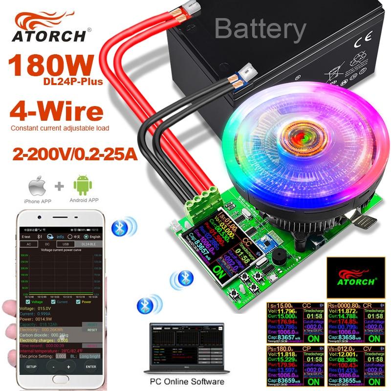 180W 4-провод постоянного тока тестер Электронная регулировка постоянного нагрузки lithium18650 емкость батареи монитор разрядки внешнее аккумуля...