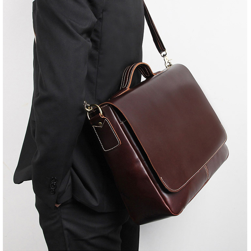 MAHEU Luxury Original Men Handbags Genuine Leather Shoulder Bag Crossbody Laptop Bag Layer Doctor Office Man Male Brand Tote Bag