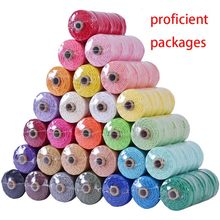 3mm 100% de algodón, cable de colorido cordón hecho a mano cuerda trenzado Cordón de macramé bricolaje hogar Decoración de la boda de embalaje de la película 100m