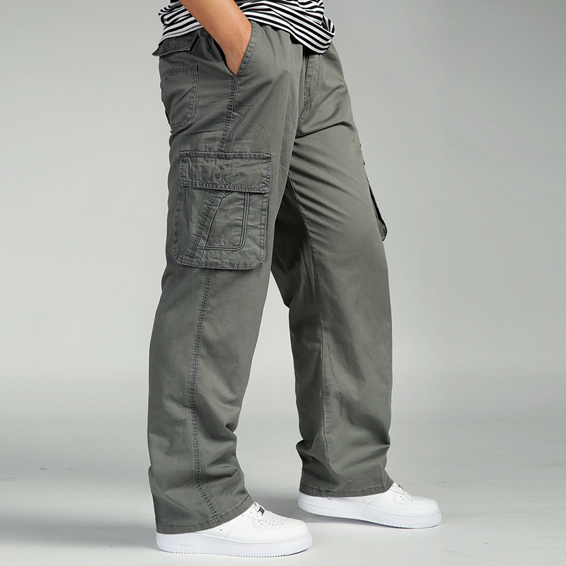 Summer Men's Plus Size Clothing 4XL 5XL 6XL Cargo Pants Big Tall Men Casual Multi-pocket Loose Work Pants Male Straight Trousers