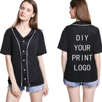 Customized Print T Shirt Baseball Jersey Short Sleeve Custom Shirts DIY Photo Logo T-shirt