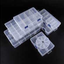 Hot Sale Manik Storage Box 6-24 Grid Wadah Perhiasan Tampilan Case Anting-Anting Organizer Adjustable Plastik Kotak Perhiasan 1 pc(China)