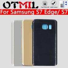 цена на Back Battery Cover S7 Edge G935 S7 G930 For Samsung Galaxy S 7 Edge G935 S 7 G930 Back Rear Glass Case For Samsung S7 S7 EDGE