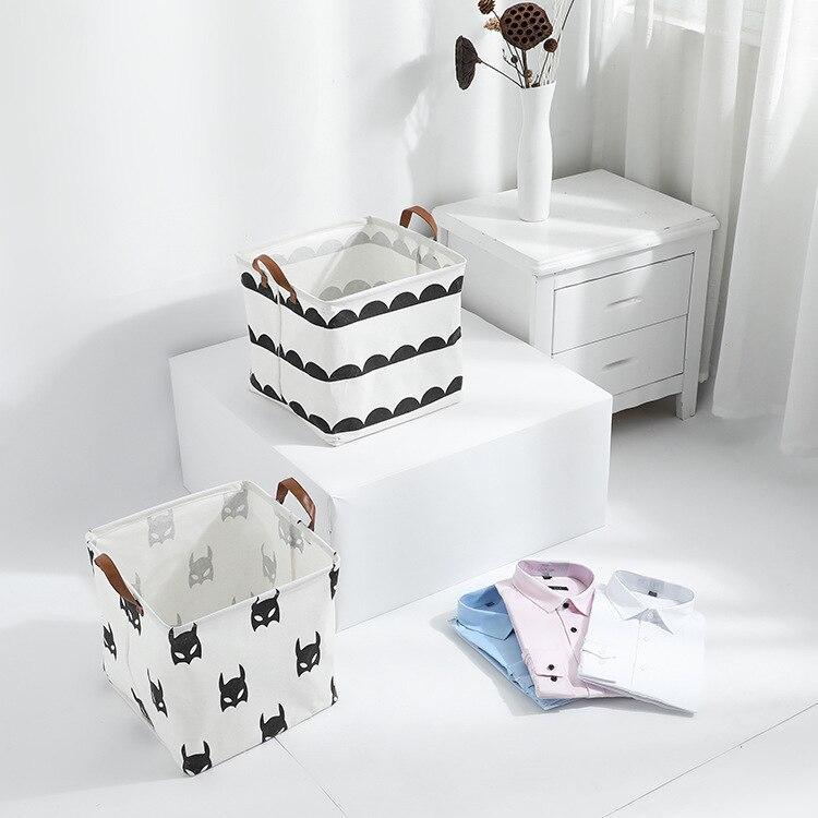 Folding Laundry Basket Storage Basket Sundries Books Lego Kids Dog Toys Organizer Storage Box Cube Clothes Home Storage Bag New(China)