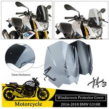 ABS Motorcycle Windscreen Windshield Cover for 2016 2017 2018 BMW G310R G 310R 310 R Wind Shield deflector with Mounting Bracket abs motorcycle windscreen windshield cover for 2016 2017 2018 bmw g310r g 310r 310 r wind shield deflector with mounting bracket
