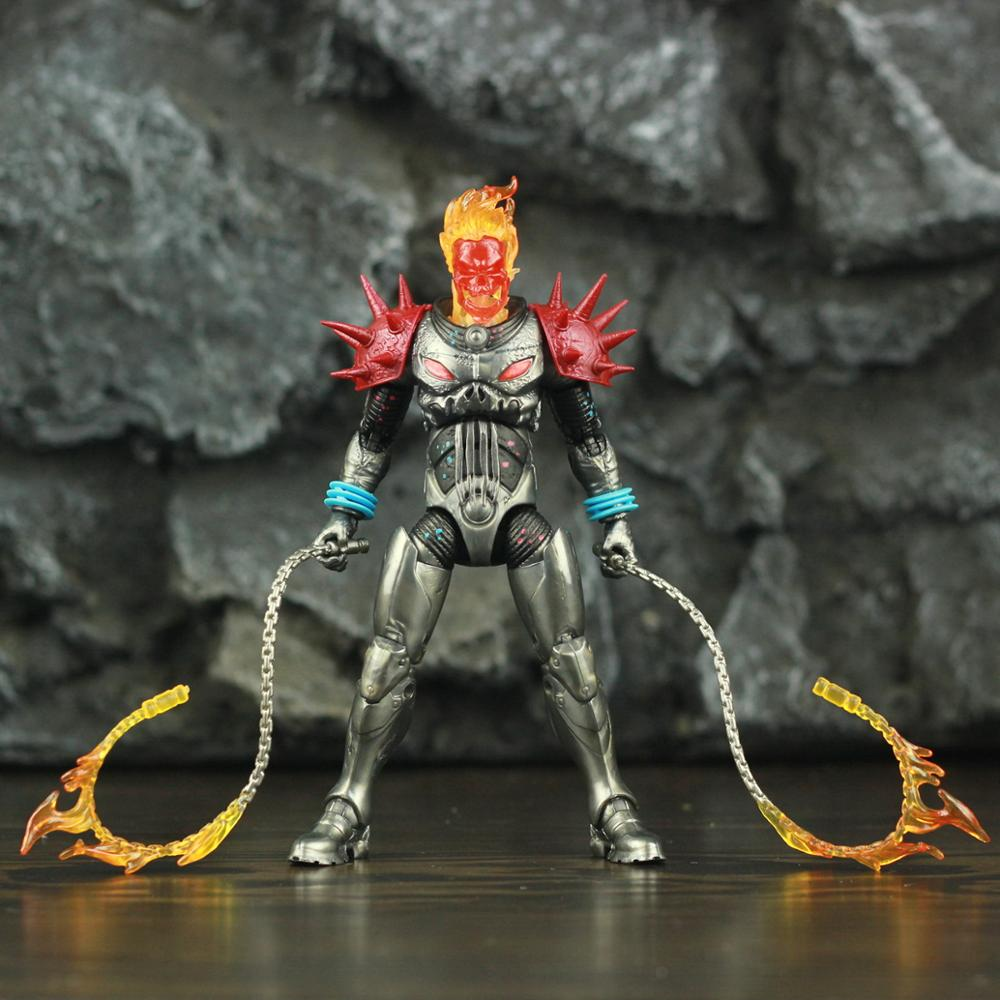 """Image 4 - Marvel Legends Cosmic Ghost Rider 6"""" Action Figure Fire Whip Without Motorbike From Vehicle Set Riders Series Original Toys DollAction & Toy Figures   -"""