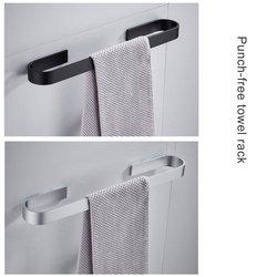 25cm-55cm toalheiro toalheiro suporte de toalha de banho toalhas cabide 304 aço inoxidável parede pendurado barra de toalha prateleira de armazenamento