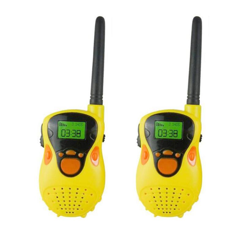 2pcs Kid Simulation Walkie Talkies Portable Comfortable Handle Function With Flashlight Electric Radio Children Puzzle Game