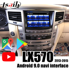 Lsailt Android 9,0 Carplay/ Android video interface für LX570 2013-2015 mit PX6 4 + 64G , waze , google , Youtube, CarPay GX460