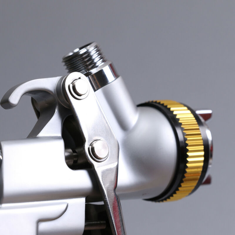 600ml HVLP Spray Gun Kits Gravity Feed Car Paint 150mm-250mm 2.0-2.5 Bar
