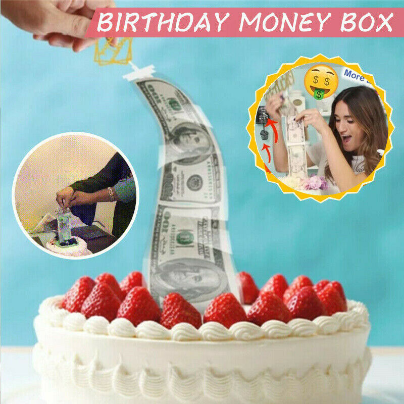 Astonishing Christmas Birthday Cake Decoration Funny Surprise Money Box Cake Personalised Birthday Cards Veneteletsinfo