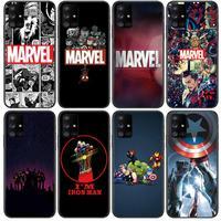 Comics Marvel Atlas Telefoon Case Romp Voor Samsung Galaxy A50 A51 A20 A71 A70 A40 A30 A31 A80 E 5G S Zwart Shell Art Mobiele Cove