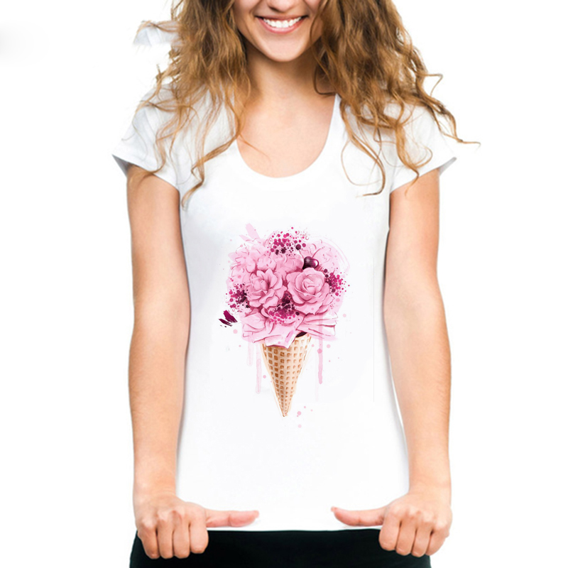 ins <font><b>Women</b></font> <font><b>Harajuku</b></font> Tops Short Sleeve <font><b>Summer</b></font> Tees <font><b>2019</b></font> Fashion <font><b>Flower</b></font> Perfume <font><b>Women</b></font> <font><b>T</b></font> <font><b>Shirt</b></font> <font><b>Women</b></font> Leisure <font><b>T</b></font>-<font><b>shirt</b></font> Graphic Tees image