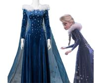 Froz 2en Olaf's Adventure Princess Elsa Holiday Dress Cosplay Costume