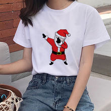 Счастливый Рождество олень Харадзюку футболка для девочек летняя
