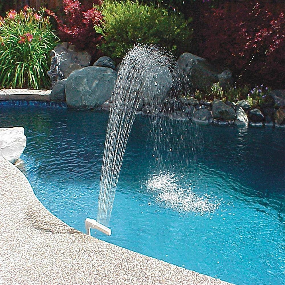 Swimming Pool Fountain Waterfall Water Spray Sprinkler Lotus Shape Stand Bracket Tools Landscape Equipment Pool Tool In Stock F3 Pool Accessories Aliexpress
