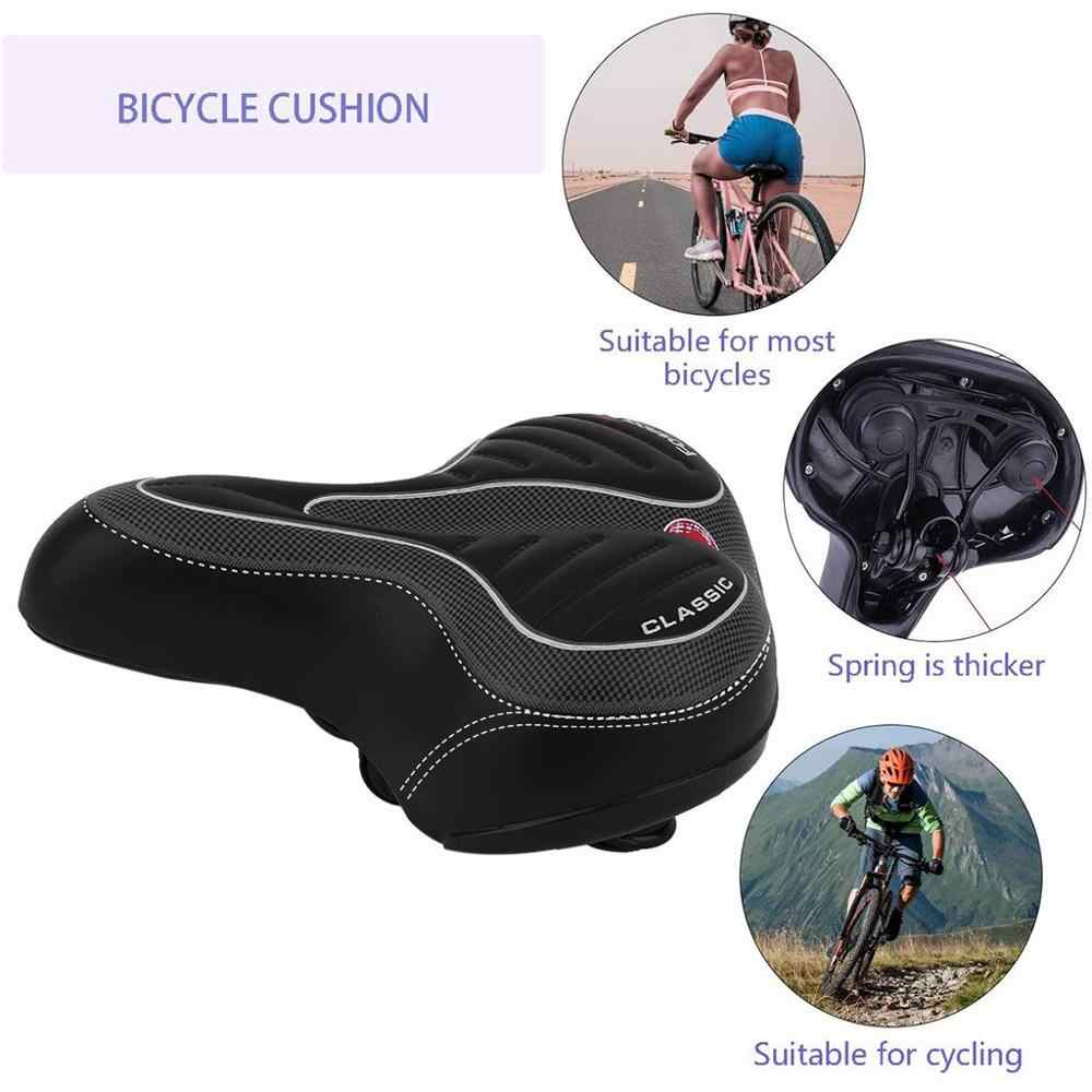 Ultra Comfort Wide Big Bum Bicycle Gel Cushion Extra Sporty Soft Pad Saddle Seat