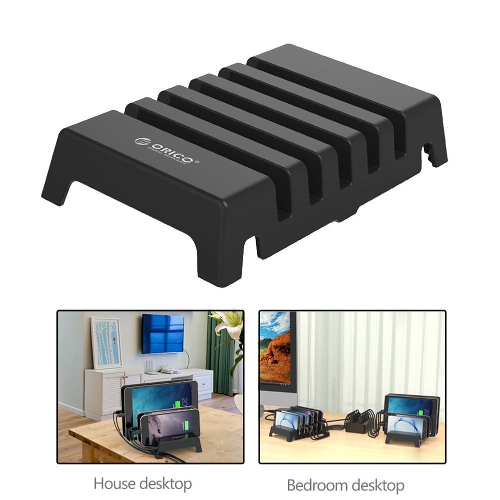 ORICO DK305 5 Slots Universal Phone Charging Station Bracket Desk Docking Charger Holder Cellphone Tablet Non-slip Organizer