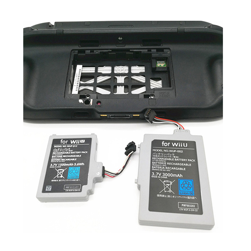 3600mAh Rechargeable Li-ion Battery Pack For Nintend Wii U Game Console Replacement Battery For Wii-U GamePad Controller Joystic
