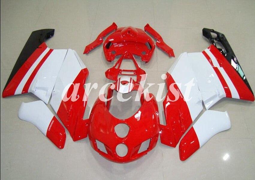באיכות גבוהה חדש ABS אופנוע fairing ערכת fit עבור Ducati 749 999 05 06 2005 2006 הזרקת עובש מעטפת סט אדום לבן