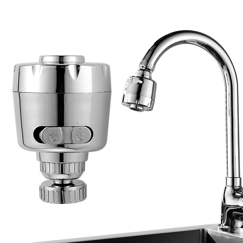 Water-saving Faucet Splash Head Filter Rotatable Electroplating Pressurized Tap Connector Nozzle Filter Kitchen Supplies