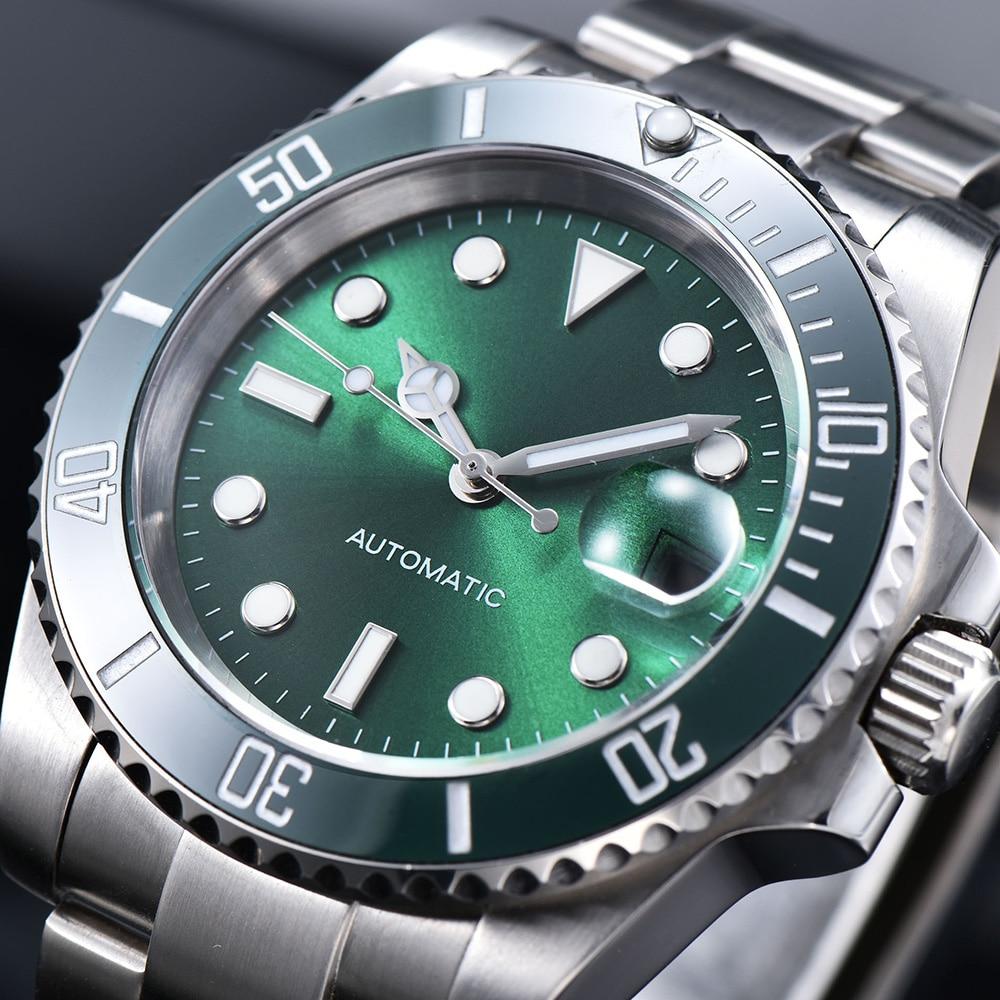 Marca de Luxo Moda à Prova Relógios de Pulso Relógio Mecânico Automático Dwaterproof Água Data Negócios Masculino Reloj Hombre 2813 Aaa 40mm