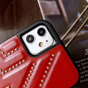 Image 3 - New PU Leather Studded Pentagram Fhx 11K Phone Case with Metal Chain for 7 8Plus X XS MAX XR Available for iPhone 11Pro MAX