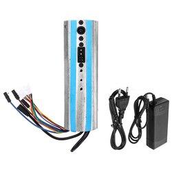 Skuter elektryczny aktywowany deska rozdzielcza Bluetooth płyta sterowania płyta główna kontroler i ładowarka dla Ninebot Es1 Es2 Es3 Es4 Eu Plu