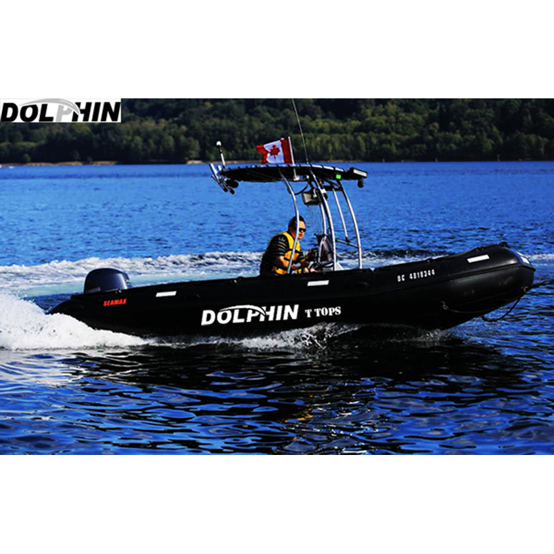 Dolphin Pro T Top - Small Medium Size Boat Navy Blue Strap Canopy