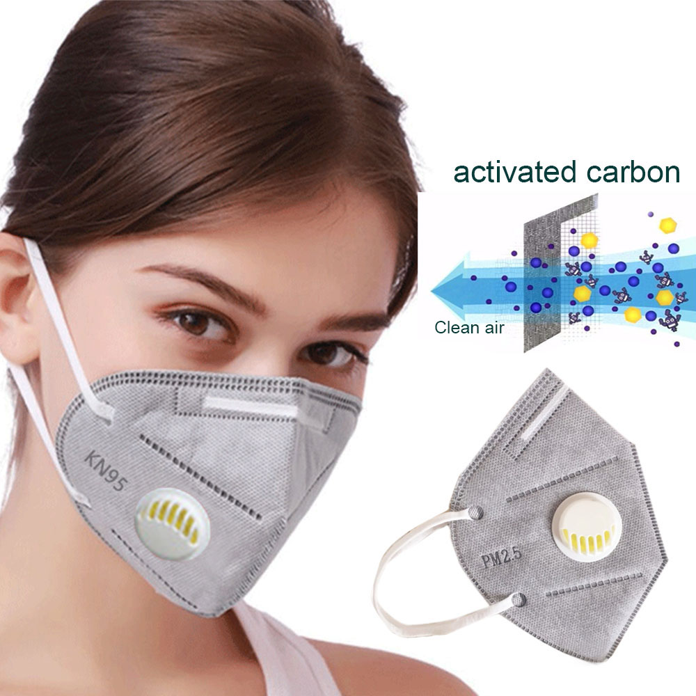 6pcs Fast Shipping Prevent Virus Masks Breathing Valve Anti-dust Virus Safe PM2.5 Protective Mask Activated Bamboo Carbon