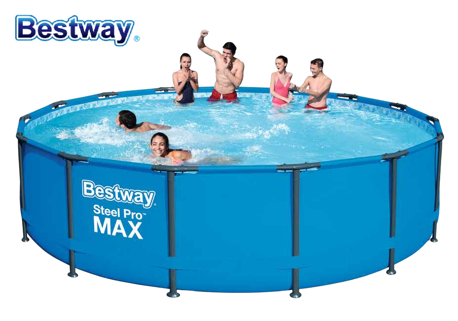 2020 New 56950 Bestway 427x 107cm Power Steelc Pro MAX Frame Pool Set 14'x42