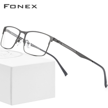 FONEX Alloy Optical Glasses 2019 Square Myopia Prescription Eyeglasses Frame Men Male Metal Full Korea Eyewear Spectacles 9287
