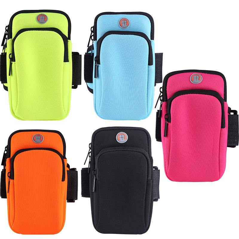 Waterproof Women Men Running Pouch Wrist Bag Gym Sport Holder Case Mobile Phone Arm Pack Zippered Fit For 4-6 Inch Mobile Phone