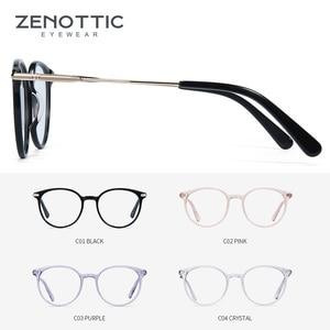 Image 3 - ZENOTTIC Ретро ацетатные круглые очки в оправе женские прозрачные оптические очки для близорукости винтажные ультралегкие очки
