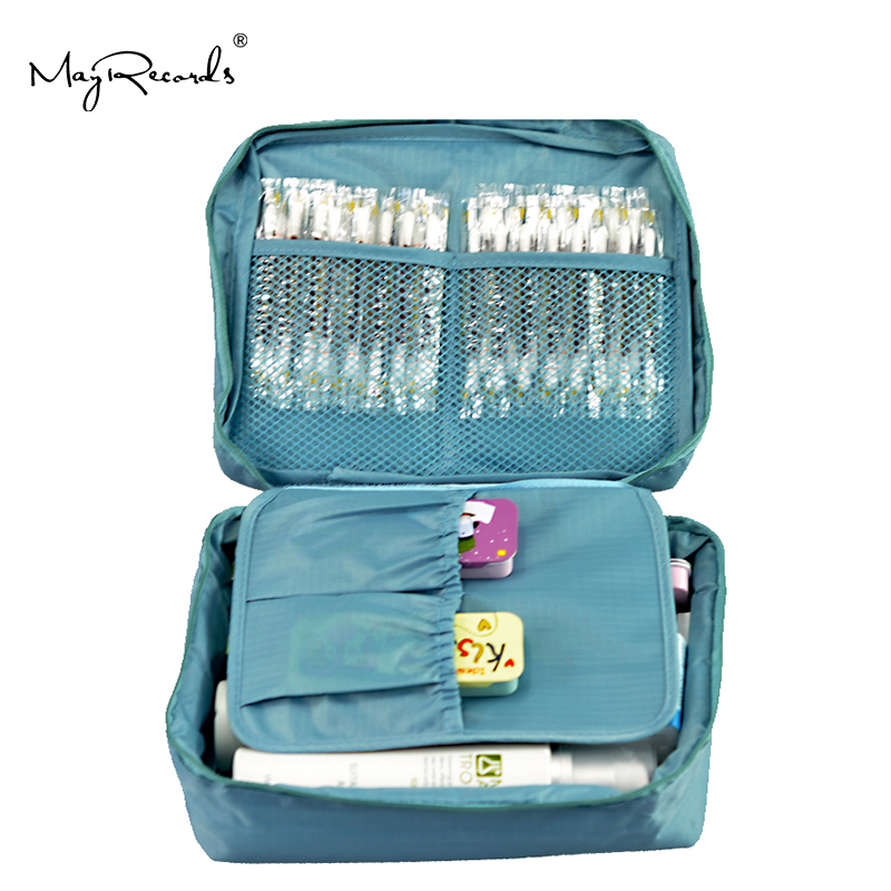 Free Shipping Sky Blue Outdoor Travel First Aid Kit Bag Home Small Medical Box Emergency Survival Kit Treatment Outdoor Camping