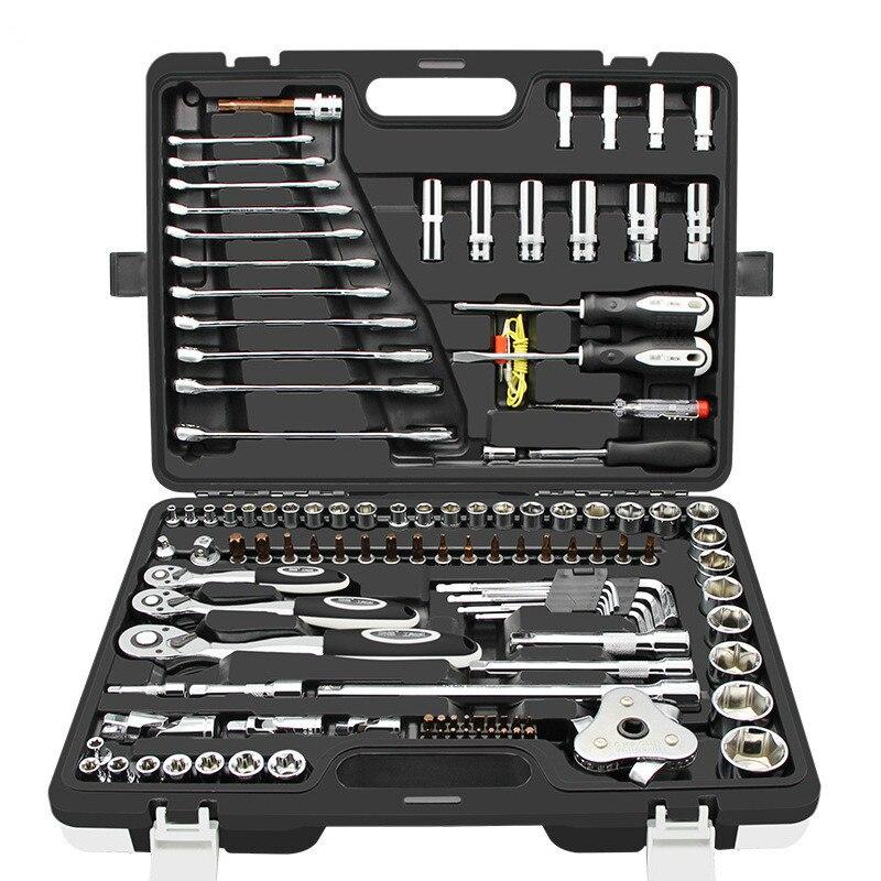 래칫 소켓 렌치 세트 자동차 조합 도구 키트 다목적 Carro Ferramentas 자동 수리 및 보험 Herramientas T4035