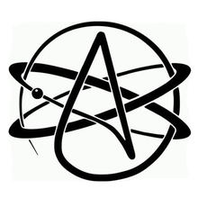 Hot sale interesting car sticker accessories atheist symbol