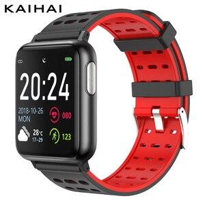 Image 1 - KAIHAI monitor aktywności fizycznej ekg PPG SpO2 inteligentna bransoletka opaska na nadgarstek pomiaru ciśnienia krwi tętno dla android ios
