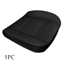Universal 1PC Car Front Seat Cushion Cover Flax 3D Full Surrounded Four  Seasons Black Breathable